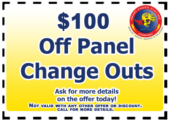 $100 off panel change outs
